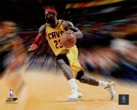 LeBron James Motion Blast Fine-Art Print