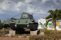 Cuba, Bay of Pigs, T-34 tank Fine-Art Print