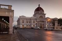 Cuba, Cienfuegos, Palacio de Gobierno, Dusk Fine-Art Print