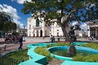 Cuba, Santa Clara, Parque Vidal, Teatro La Caridad Fine-Art Print