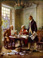Writing of the Declaration of Independence Fine-Art Print