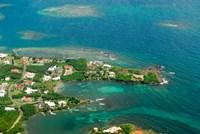 Grenada, City of St George and the beach Fine-Art Print