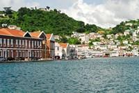 Grenada, St George, Carenage, Residential area Fine-Art Print