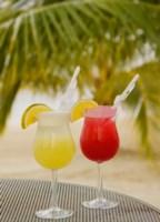 Cocktails on the Beach, Jamaica, Caribbean Fine-Art Print