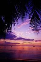 Sunset on the beach, Negril, Jamaica, Caribbean Fine-Art Print