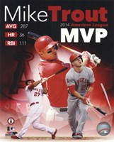 Mike Trout 2014 American League MVP Portrait Plus Fine-Art Print