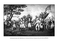 Surrender of British General John Burgoyne at Saratoga Fine-Art Print