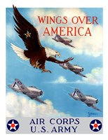 Bald Eagle Flying with Fighter Planes Fine-Art Print