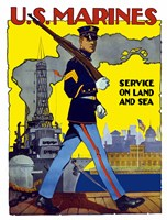 U.S. Marines - Service on Land and Sea Fine-Art Print