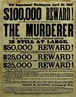 Reward Poster - Murderer of Abraham Lincoln Fine-Art Print