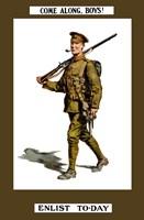 Come Along Boys, Enlist Today Fine-Art Print
