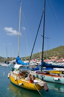 Colorful boats, Gustavia, Shell Beach, St Bart's, West Indies Fine-Art Print