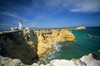 Faro De Cabo Rojo Lighthouse, The Pasaje De La Mona, Puerto Rico Fine-Art Print