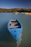 Puerto Rico, Guanica, Bahia de la Ballena bay, boats Fine-Art Print