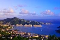 Caribbean, St Thomas, USVI, Charlotte Amalie Fine-Art Print