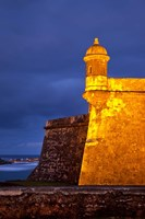 El Morro Fort lit up, Old San Juan, Puerto Rico Fine-Art Print