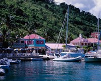Sopers Hole Wharf, Pussers Landing, Frenchmans Cay, Tortola, Caribbean Fine-Art Print