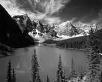Wenkchemna Peaks reflected in Moraine lake, Banff National Park, Alberta, Canada Fine-Art Print