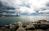 Muskegon South Breakwater lighthouse, Lake Michigan, Muskegon, Michigan, USA Fine-Art Print