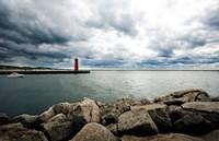 Muskegon South Breakwater lighthouse, Lake Michigan, Muskegon, Michigan, USA Fine-Art Print