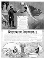 President Abraham Lincoln and the Emancipation Proclamation Fine-Art Print