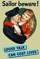 Sailor Beware , Loose Talk Can Cost Lives Fine-Art Print