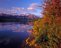 Maskinonge Lake with mountains in the background, Waterton Lakes National Park, Alberta Fine-Art Print