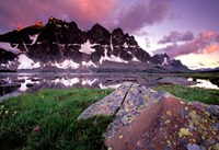 The Ramparts Viewed in Reflection, Tanquin Valley, Jasper National Park, Alberta, Canada Fine-Art Print
