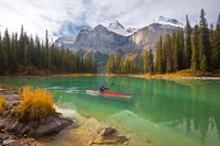 Kayaker on Maligne Lake, Jasper National Park, Alberta, Canada Fine-Art Print