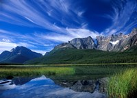 Cirrus Clouds Over Waterfowl Lake, Banff National Park, Alberta, Canada Fine-Art Print