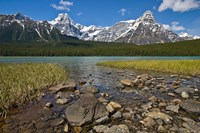 Alberta, Rocky Mountains, Banff NP, lake fed by snowmelt Fine-Art Print