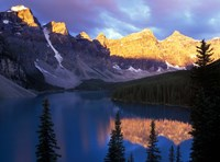 Lake Moraine at First Light, Banff National Park, Alberta, Canada Fine-Art Print