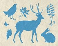 Woodland Creatures IV Fine-Art Print