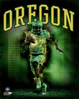 University of Oregon Ducks Player Composite Fine-Art Print