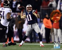 Julian Edelman Touchdown Pass 2014 Playoff Action Fine-Art Print