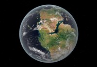 Western hemisphere of the Earth during the Early Jurassic period Fine-Art Print