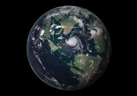 Planet Earth 90 million years ago during the Late Cretaceous Period Fine-Art Print