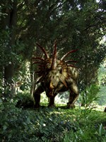 Styracosaurus in a forest Fine-Art Print