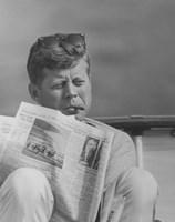 John F Kennedy Smoking a Cigar Fine-Art Print