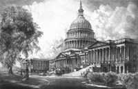 US Capitol Building (digitally restored) Fine-Art Print