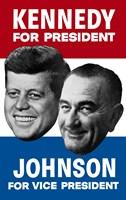 1960 Democratic Nominees, Kennedy & Johnson Fine-Art Print