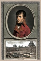 Napoleon Bonaparte Above a Troop Review Fine-Art Print