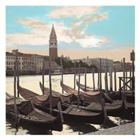 Campanile Vista with Gondolas Fine-Art Print