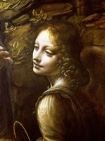 Detail of the Angel, from The Virgin of the Rocks Fine-Art Print