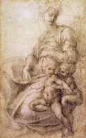 The Virgin and Child with the infant Baptist, c.1530 Fine-Art Print