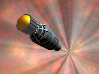Illustration of a Spacecraft Travelling Faster than the Speed of Light Fine-Art Print