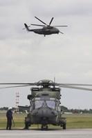 A German Army NH90 and its Predecessor, the CH-53 Sea Stallion Fine-Art Print