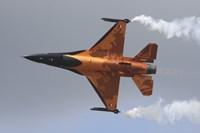 Dutch Air Force F-16A During a Flight Demonstration Fine-Art Print