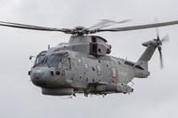 Royal Navy EH-101 Merlin in Flight, Jagel, Germany Fine-Art Print