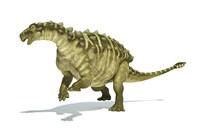 Talarurus Dinosaur on White background Fine-Art Print